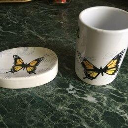 Мыльницы, стаканы и дозаторы - Мыльница и стакан ''Бабочки'', 0