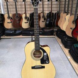 Акустические и классические гитары - Новая электро-акустика Epiphone AJ-100CE, 0