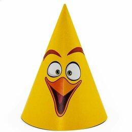 Карнавальные и театральные костюмы - Колпаки Angry Birds, желтый, 6шт, 0
