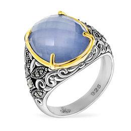 Кольца и перстни - Серебряное кольцо с голубым кварцем,…, 0
