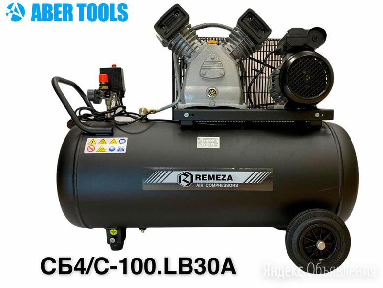 Поршневой компрессор 220В Remeza СБ4/С-100.LB30A (420 л/мин.) по цене 37600₽ - Воздушные компрессоры, фото 0