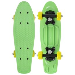 Скейтборды и лонгборды - Круизер 42 х 12 см, колеса PVC 50 мм, пластиковая рама, цвет зеленый, 0