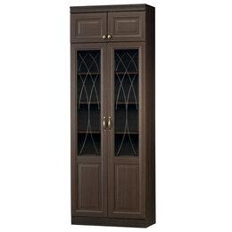 Шкафы, стенки, гарнитуры - Диана 344 шкаф для книг (нортон темный), 0