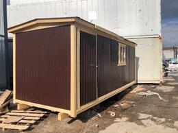 Готовые строения - Бытовка деревянная внутри вагонка 6м А-298, 0