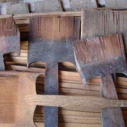 Другое - Старинный гребень чесало для шерсти, резьба прялка, 0