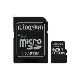 Карты памяти - Карта памяти 16gb. Kingston microsdhc, 0