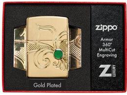 Пепельницы и зажигалки - Зажигалка zippo armor коллекционная лилия, 0