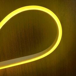Светодиодные ленты - Гибкий неон 12 В, 6*12 мм, кратность реза 1 см, жёлтый. премиум класс., 0