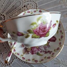 Кружки, блюдца и пары - Чайная пара с ложечкой, 0