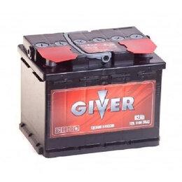 Аккумуляторы и комплектующие - Аккумулятор автомобильный GIVER 6СТ-62.1 62Ач 510А Прямая полярность, 0