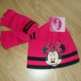 Головные уборы - Новый комплект перчатки и шапка 4-8 л Disney, 0
