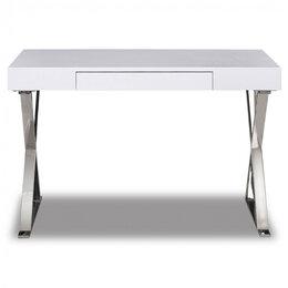 Компьютерные и письменные столы - Стол рабочий письменный на металлических ножках…, 0