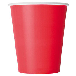 Одноразовая посуда - Стакан бумажный 250 мл красный 1 слой, 0