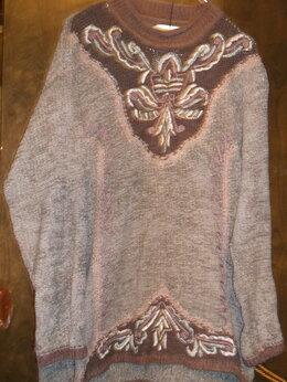 Свитеры и кардиганы - свитер  велюр с апликацией винтаж, 0
