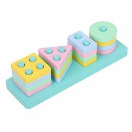 Развивающие игрушки - Развивающий деревянный сортер «Пастельный», 0