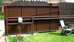 Заборы и ворота - Откатные ворота со средней балкой 3,2х2м, 0