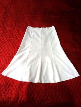Юбки - Белая юбка годе(натур.лен)новая , 0