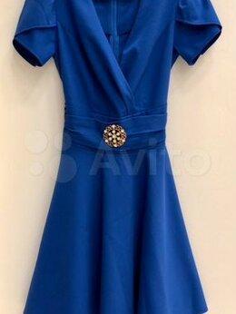 Платья - Женское синее платье, 0