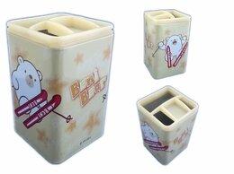 Мыльницы, стаканы и дозаторы - Стаканчик д/каранд металлиский  4 отд дет Beni…, 0