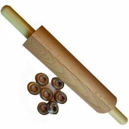 Скалки - Скалка для теста деревянная 30-7,5см, 0