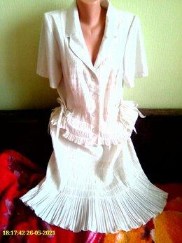 Костюмы - Женский льняной костюм, 0