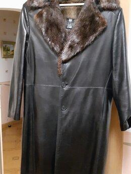 Дубленки и шубы - мужское кожаное пальто, 0