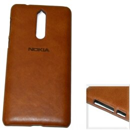 """Чехлы - Чехол Nokia 8 """"Leather brand"""" пластик коричневый, 0"""