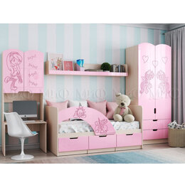 Кроватки - Детская комната для девочки Юниор-3 Мульт, 0