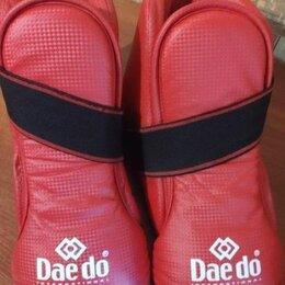 Перчатки для единоборств - Защита стоп (футы) Daedo красные для тхэквондо ITF, 0