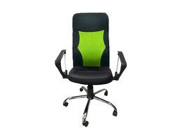 Компьютерные кресла - Кресло Скаут Нептун спинка TW салатовая + кожзам ч, 0