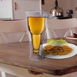 Бокалы и стаканы - Бокал пивной с двойными стенками Magistro «Дуо»,…, 0