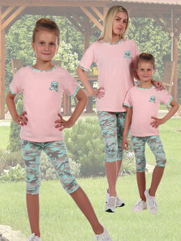 Шорты - Костюм с короткими легинсами для девочки…, 0