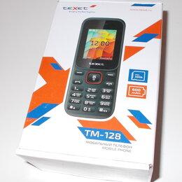 Мобильные телефоны - Мобильный телефон Texet TM-128 черно-красный. Новый, в упаковке. , 0