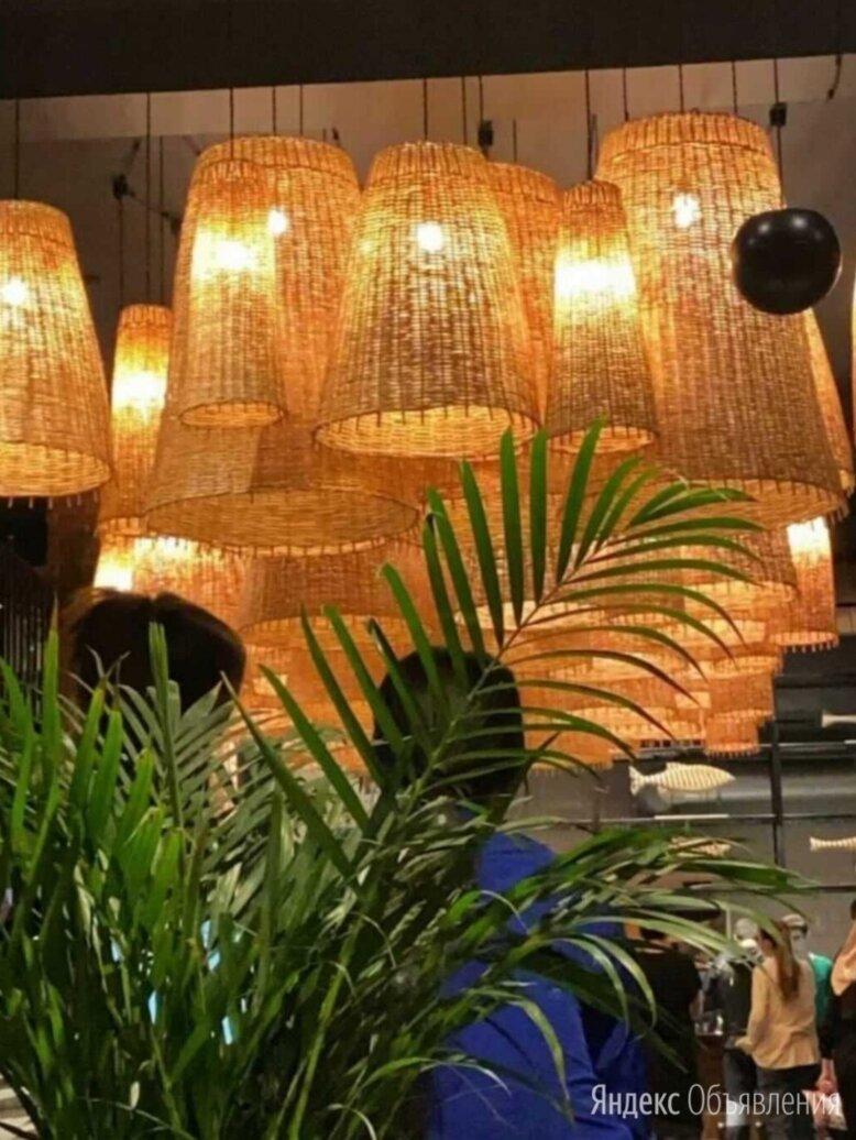 Светильник ротанг плетеный абажур по цене 4660₽ - Настенно-потолочные светильники, фото 0