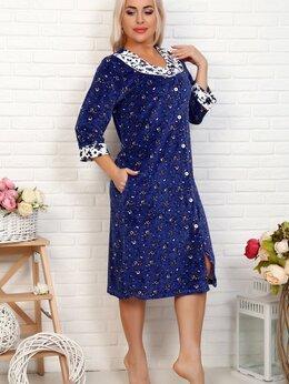 Домашняя одежда - Велюровый женский халат, 0