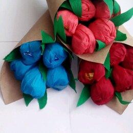 Цветы, букеты, композиции - Букет из тюльпанов с конфетами, 0