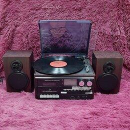Музыкальные центры,  магнитофоны, магнитолы - Проигрыватель виниловых пластинок TR-18CD-BT, 0