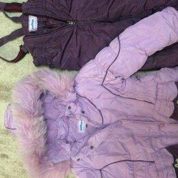 Комбинезоны - Зимний комбинезон для девочки 3-4 года. Рост 104 см. Цвет фиолетовый., 0