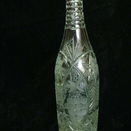 Этикетки, бутылки и пробки - Бутылка из хрусталя СССР коллекционная, 0