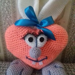Мягкие игрушки - Ушастый Валентин, 0