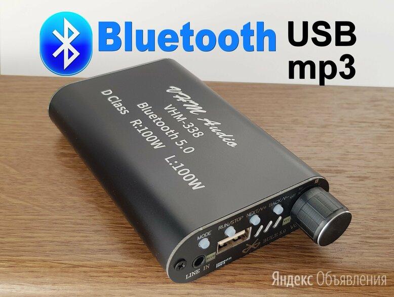 Усилитель 2х50W с Блютуз, USB, mp3 плеером по цене 1500₽ - Усилители и ресиверы, фото 0