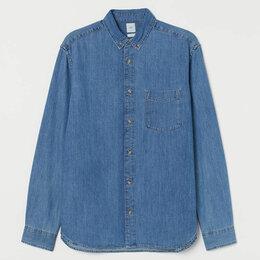 Рубашки - Джинсовая рубашка H&M новая (XXL), 0