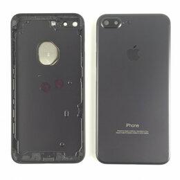 Корпусные детали - Корпус для Apple iPhone 7 Plus черный матовый, 0
