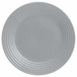 Тарелки - Тарелка обеденная серая 27 см Living , 0