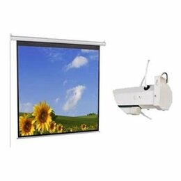 Экраны - Экран с электроприводом Classic Lyra  240x180    4:3, 0
