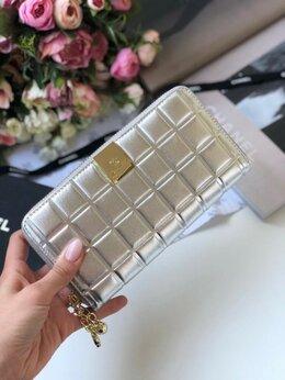 Кошельки - Кошелек Chanel кожа серый женский новый, 0