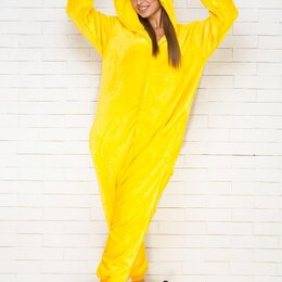 Домашняя одежда - Пижама Кигуруми Пикачу желтый размер М (160-170см), 0