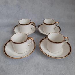 Кружки, блюдца и пары - Четыре кофейные пары Limoges, Франция, 1891 -…, 0