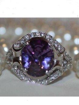 Кольца и перстни - Кольцо новое серебро 19 аметист камень сиреневый…, 0