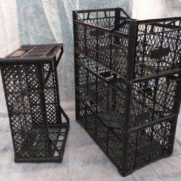 Корзины, коробки и контейнеры - Ящики пластиковые, черные размер 30х50х18, 0
